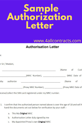 2 Samples authorization letter pdf