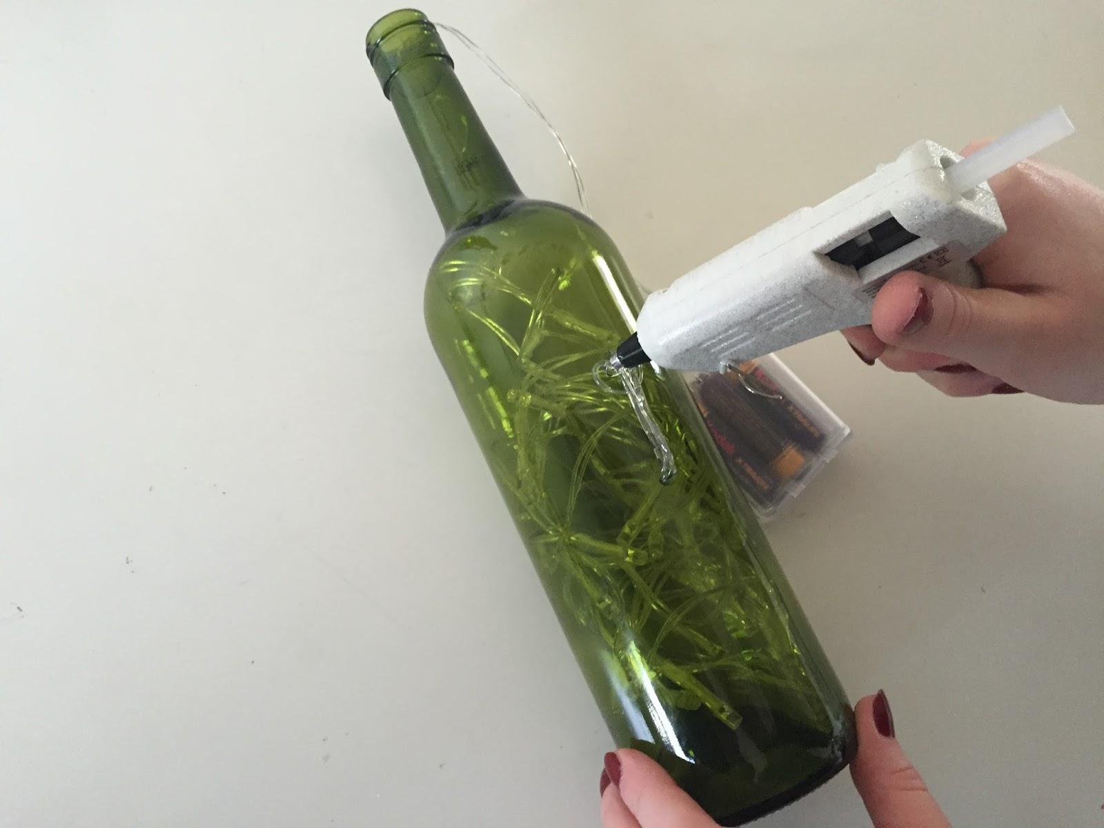 DIY Wine bottle lights : Bits and Bobs