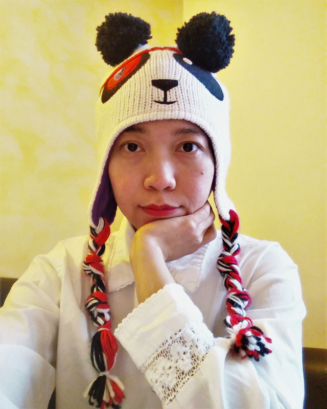 Panda beanies, vintage white shirt with pretty lace details