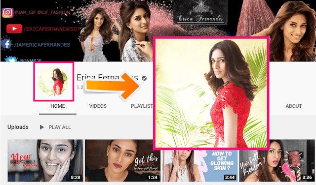 How To See Full Size YouTube Account Picture | YouTube Profile Picture | Erica Fernandes