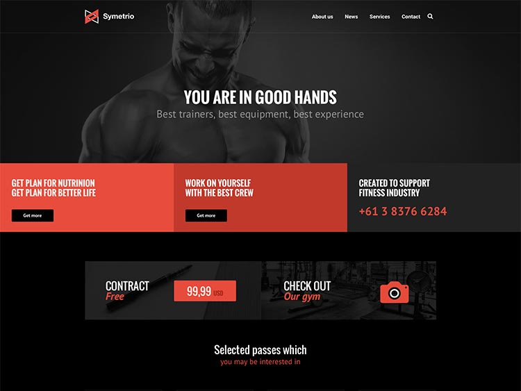 Gym & Fitness WordPress Theme - Symetrio
