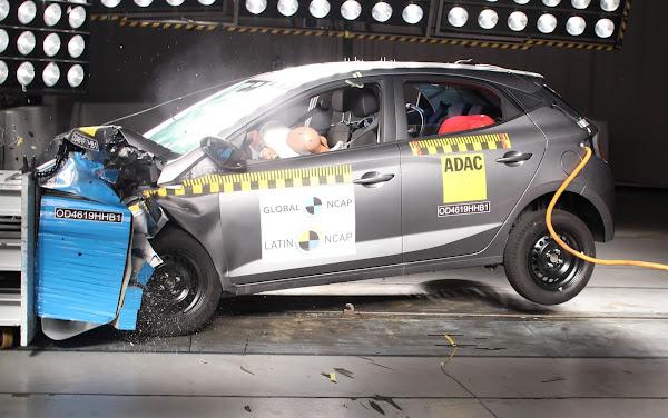 Hyundai HB20 perde 1 estrela e fica com 3 no Latin NCAP