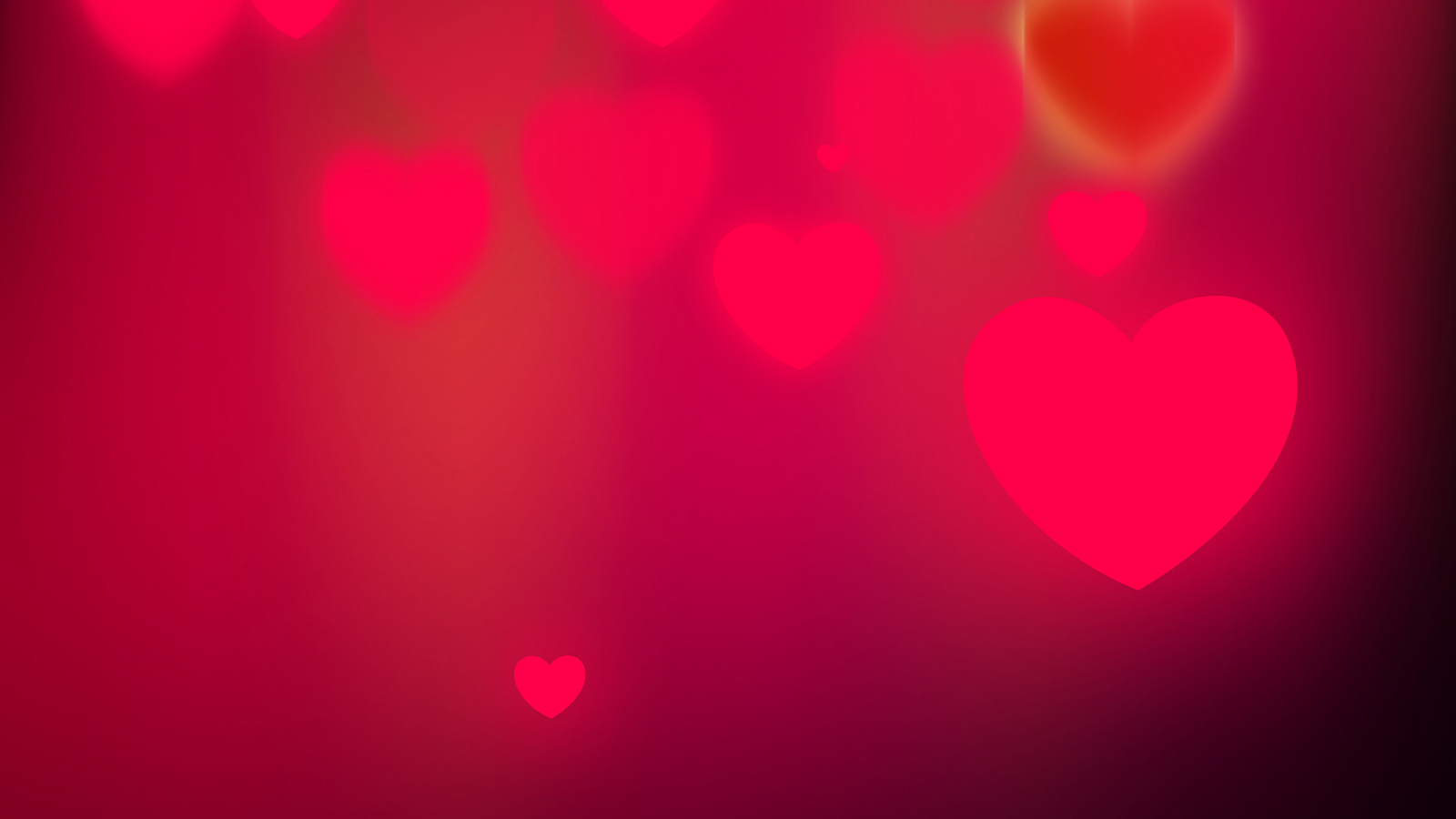 Red Floating Hearts - Minimal Valentine Pink Background for Presentations and Google Slides Themes