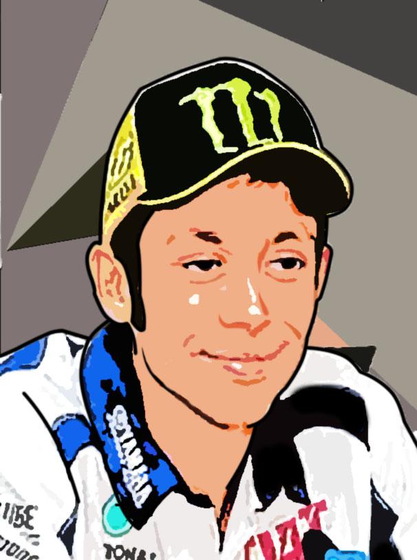 Valentino Rossi Kartun Gaya Gta