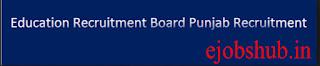 Education Recruitment Board Punjab Vacancy