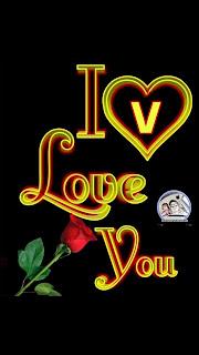 i love you v nameart