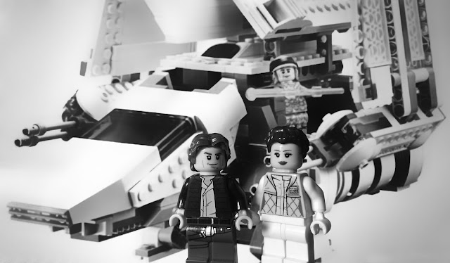 Han Solo. Leia and imperial shuttle
