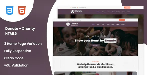 Best Charity HTML5 Template