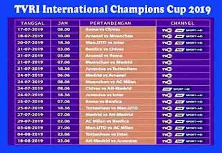 Jadwal Lengkap International Champions Cup 20019 TVRI HD