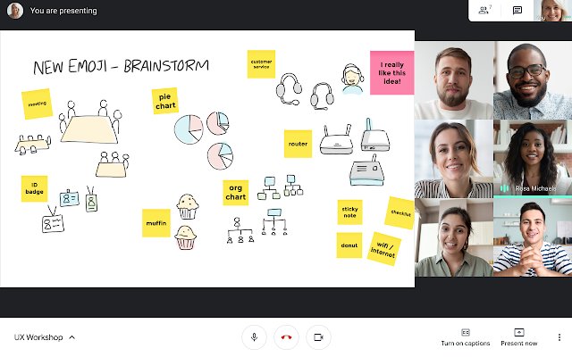 Use Google Jamboard to host collaborative brainstorms in Google Meet 2