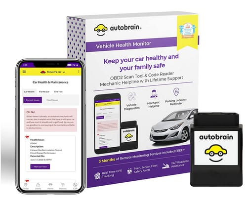 Autobrain OBD2 Scan Tool GPS Tracker for Vehicles