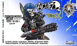 Madness Tour Bogota No.1: ACIDEZ, Peste Mutantex y Triple X