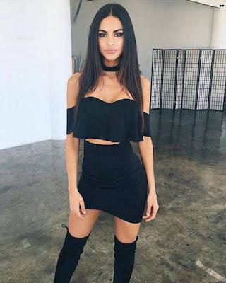 outfit de dos piezas negro tumblr