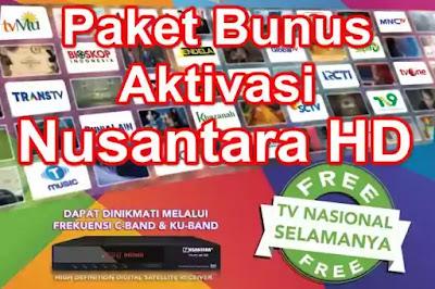 Paket Bonus Aktivasi Transvision Nusantara HD