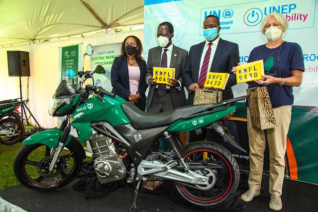 UNEP electric motorcycles
