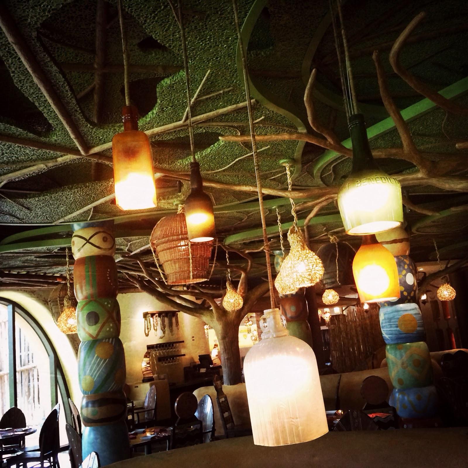 Repurposed Bottle Lights At Sanaa