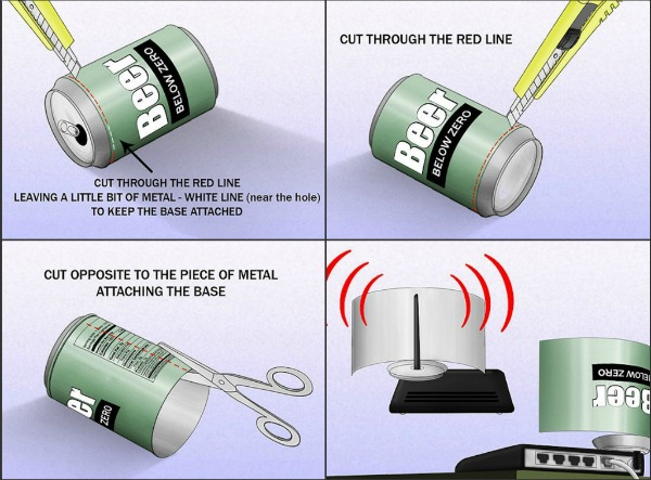 how to boost your wi fi signal with a tin can patel tutes. Black Bedroom Furniture Sets. Home Design Ideas