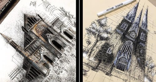 00-Erfan-Hasankhani-Ink-and-Color-Architectural-Drawings-www-designstack-co