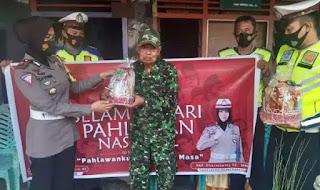 Peringati Hari Pahlawan Ke 75, Satlantas Polres Pinrang Anjangsana ke Veteran TNI