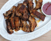 Baked Baby Back Ribs with Spicy Berry Sauce