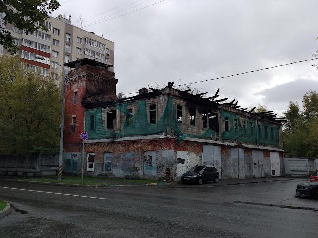 Пожарная часть в Преображенском. Осень 2018 года.