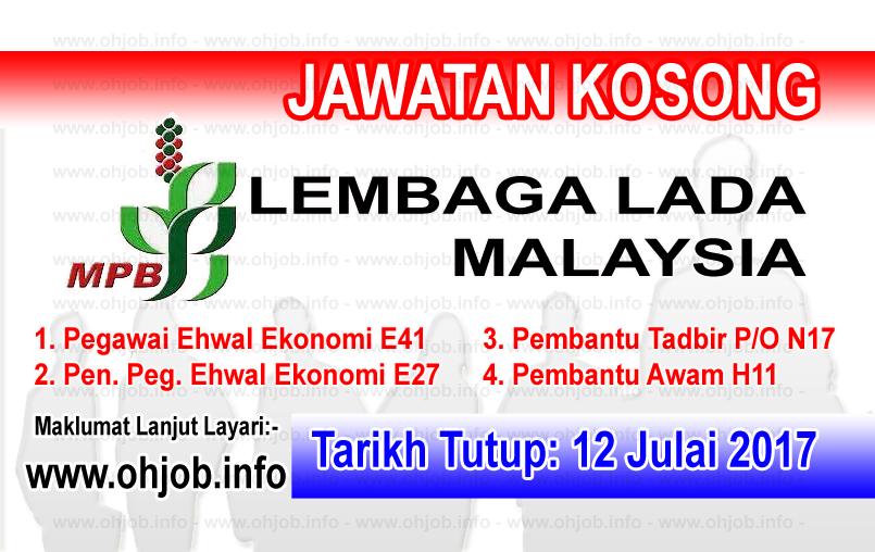 Jawatan Kerja Kosong Lembaga Lada Malaysia - MPB log www.ohjob.info julai 2017