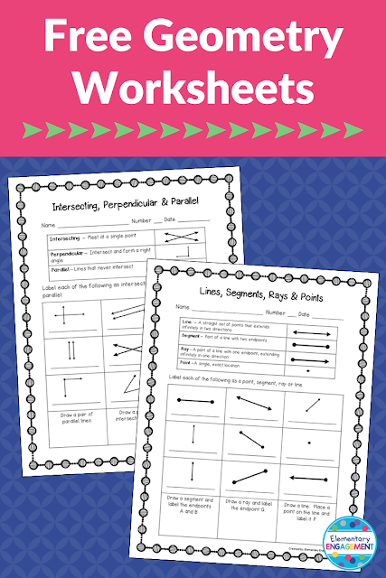 These two worksheets are a free download on this post!