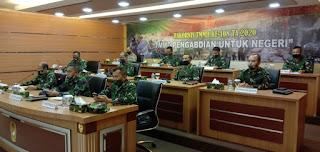 BrigJen Polisi Drs H Tajuddin MH Wakili Kabaharkam Polri di Mabesad TNI Agenda Rapat Koordinasi TMMD ke 108 tahun 2020