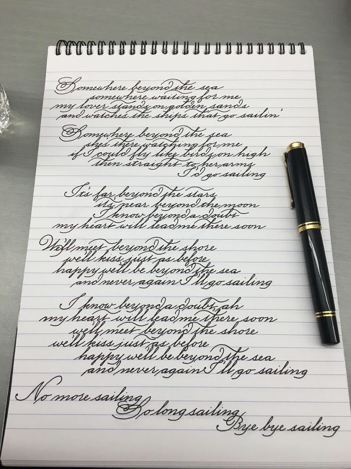 30 Examples Of Flawless Handwriting That Will Inspire You To Fix Your Own