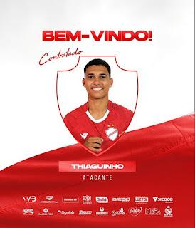 Vila Nova anuncia a contratação do atacante Thiaguinho