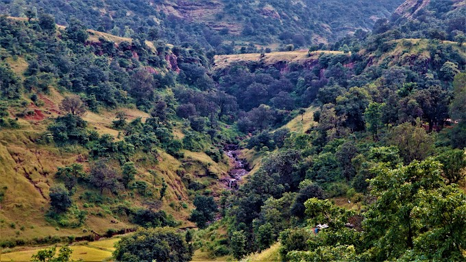 Hidden waterfalls at Kalsubai