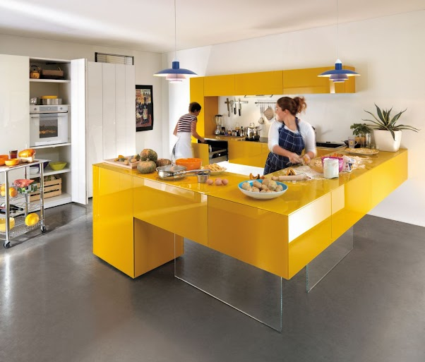 Desain Dapur Minimalis Modern Nuansa Kuning 01