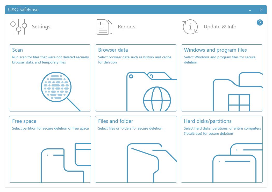 O&O SafeErase Main Interface Screenshot