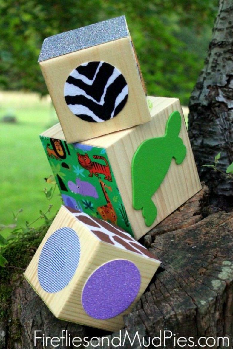 activities for babies - texture blocks