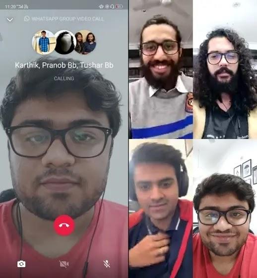 إجراء مكالمات جماعية في WhatsApp