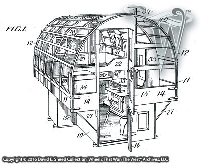 this illustration is part of a sheep camp wagon patent that was granted in 1909 - Sheep Wagon 2