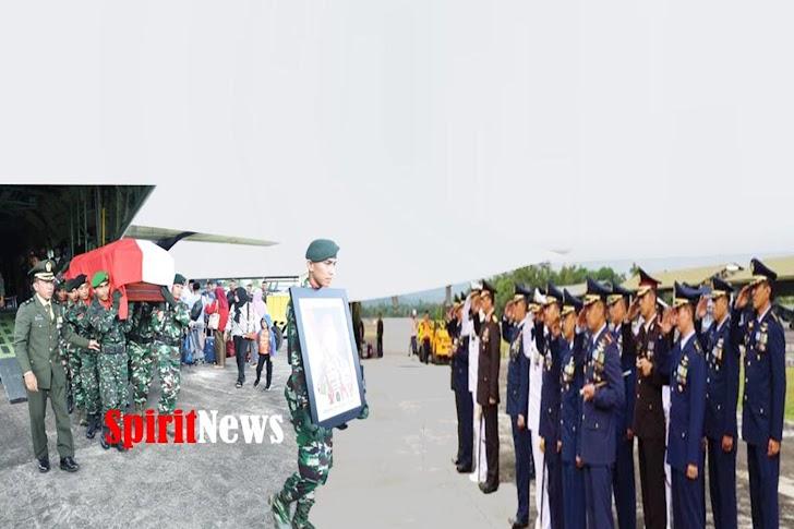 Penyambutan Kedatangan Wakasad Letjen TNI Tatang Sulaiman Bersama Jenazah Jenderal Pur George Toisutta
