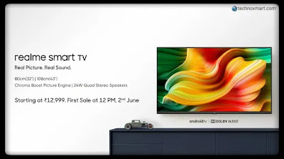 Realme Smart TV Launched In India With Android TV & HDR10 With Price Begins From Rs.12,999