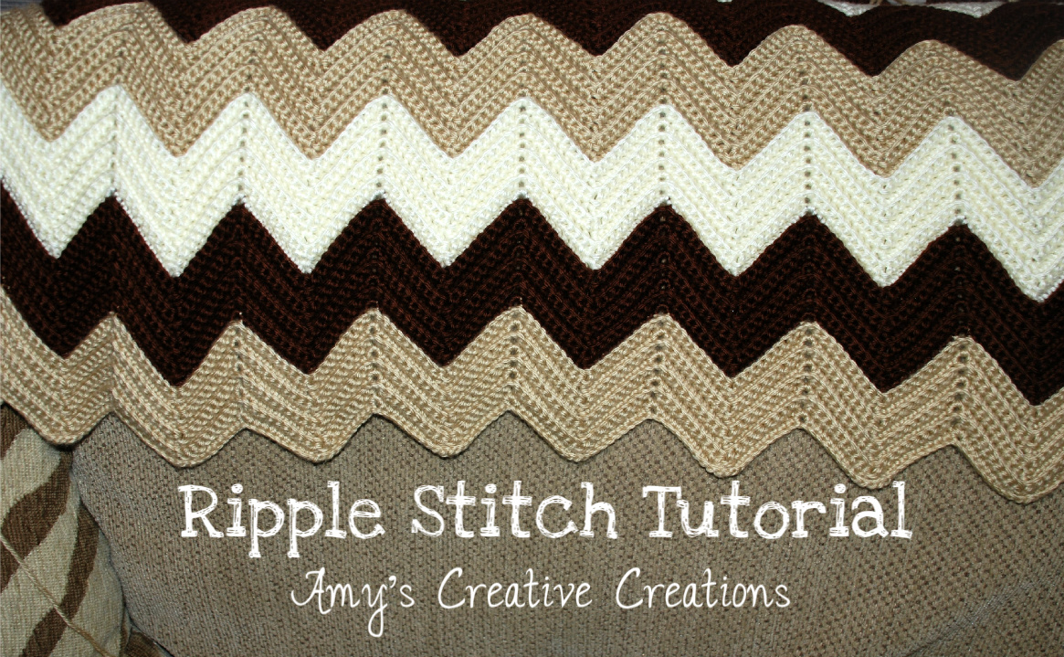 Crochet Ripple Afghan With Video Tutorial