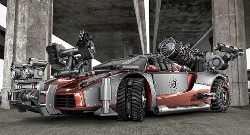 Mobil Supercar Desain Resident Evil