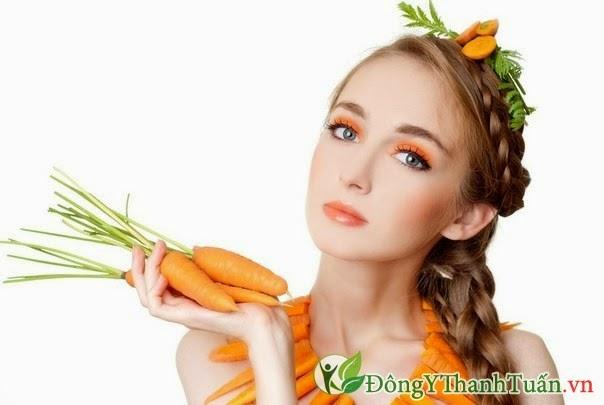 Chữa viêm họng cho bà bầu bằng cà rốt