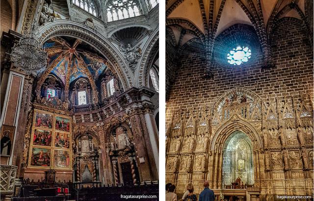 Catedral de Valência: altar-mor e Capela do Santo Graal