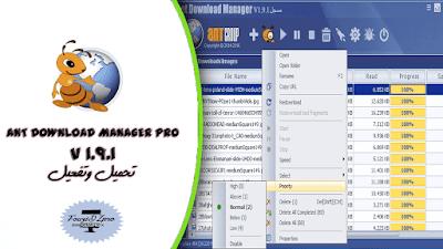 تحميل برنامج من أقوى البرنامج للتحميل يتيح لك تنزيل أي محتوى Ant Download Manager Pro 1.9.1