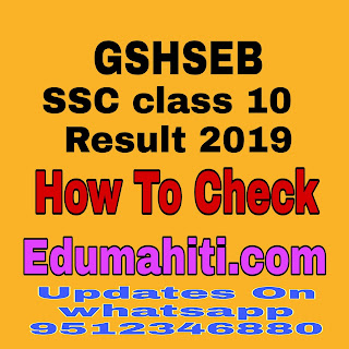 Gujarat Secondary and Higher Secondary Education Board (GSHSEB) Result 2019 Declared.