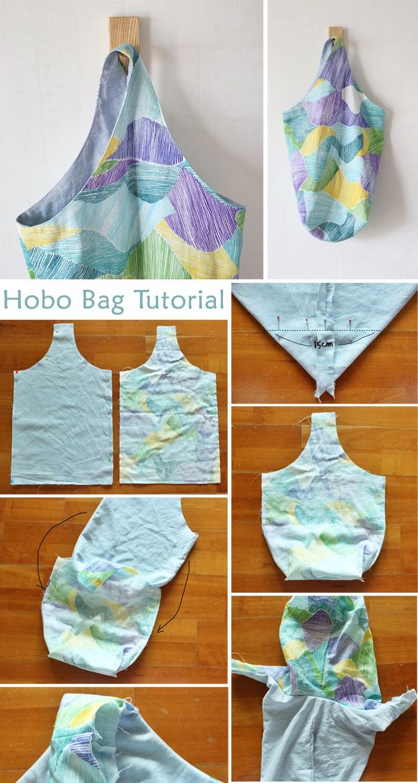 Fabric Hobo Bag Tutorial