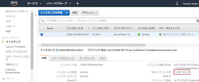 AWSパブリックIPアドレス