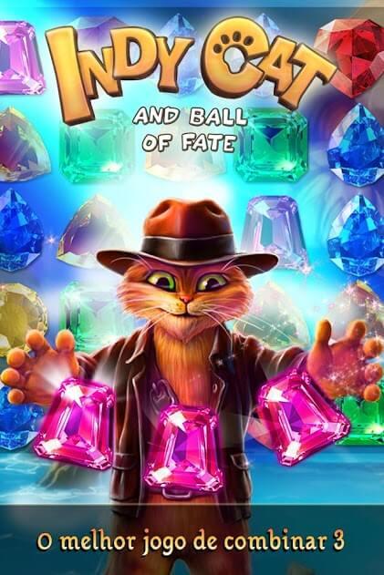 Indy Cat Match 3 v 1.82 apk mod COMPRAS GRÁTIS / MOD MENU