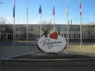The I Love Regina Sign in Regina Saskatchewan