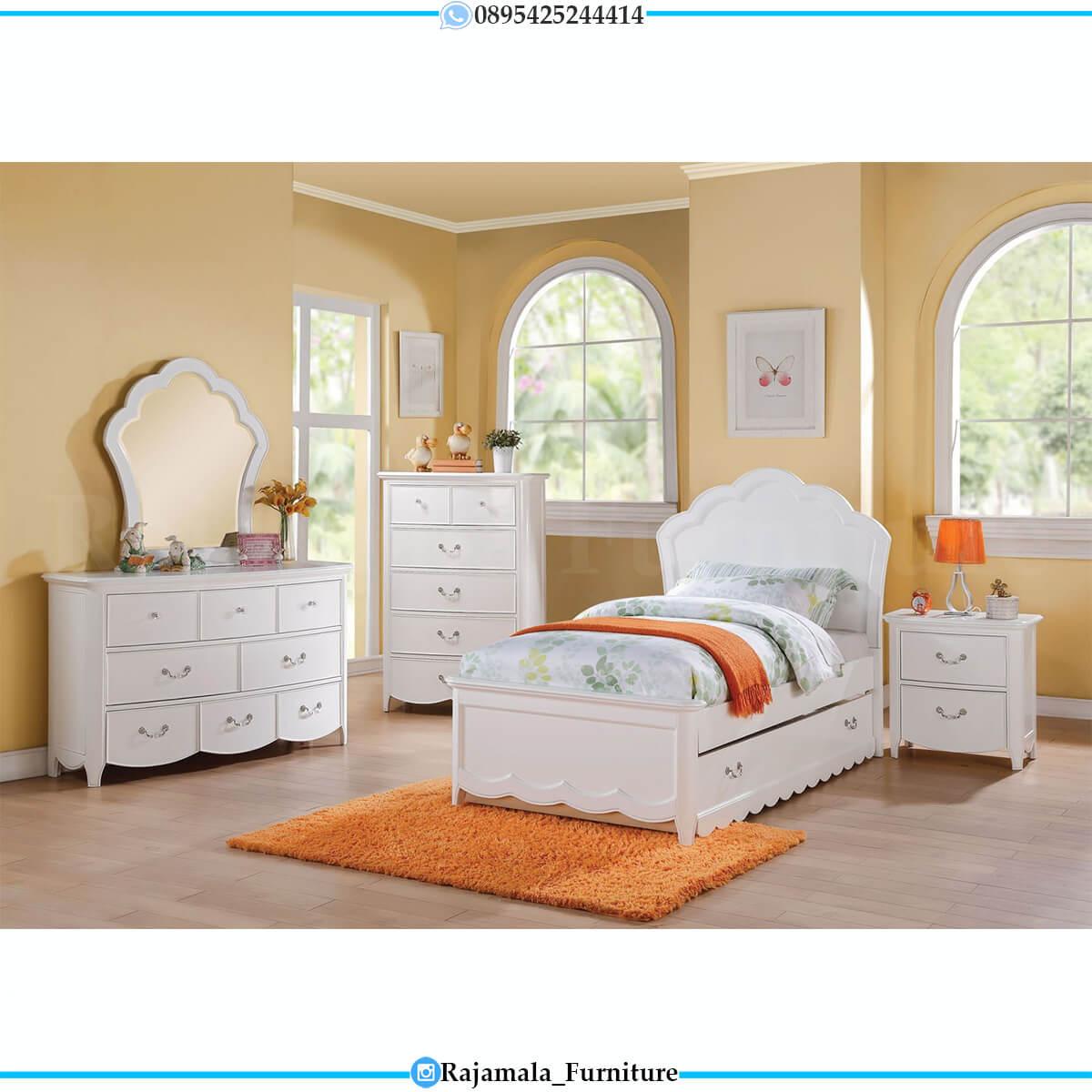Tempat Tidur Anak Minimalis Putih Elegant Simple Design RM-0631