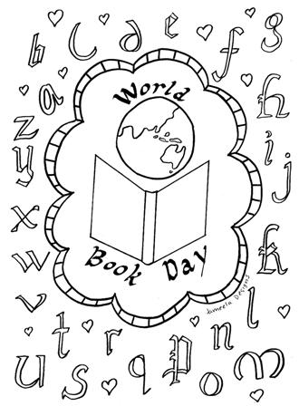 Muslim Parenting: World Book Day Colouring Sheet